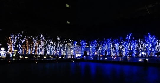 Keyaki Hiroba Plaza Christmas lights
