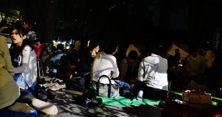 Keyaki Hiroba Spring Beer Festival night picnic