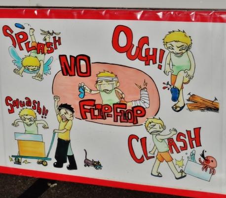 Tsukiji market visit no flip flops