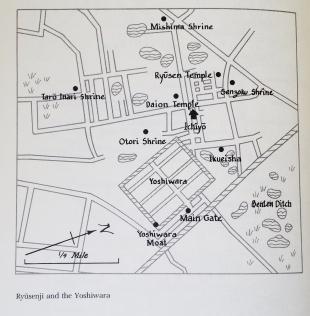 Yoshiwara detailed map circa 1890s