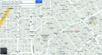 Yoshiwara map Senzoku 4-chome detail 2013
