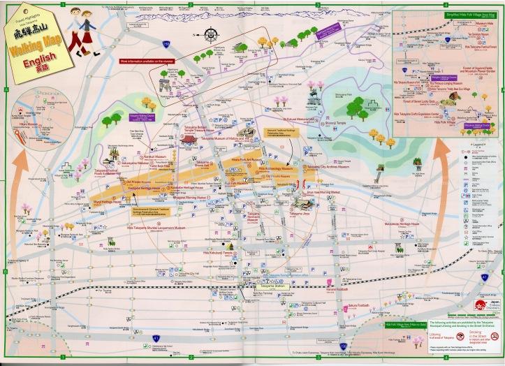 Hida-Takayama Walking Map