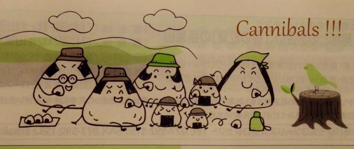 8 Onigiri cannibals picnic