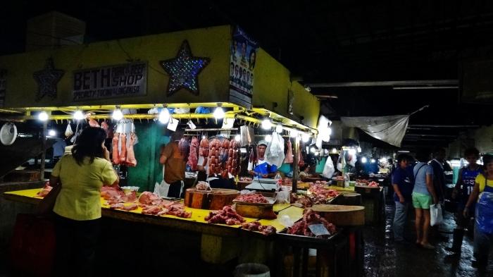 Meat Market Manila at night