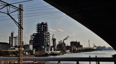 Kawasaki industrial zone refinery
