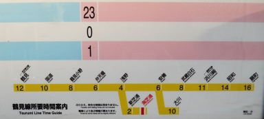 Tsurumi Line Kawasaki Train map schedule