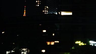Tokyo Tower, behind Hotel Okura
