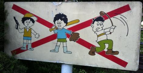 Good and bad behavior in thepark
