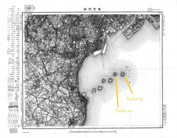 Tokyo's battery islands, 1909