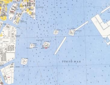 1946 Tokyo Odaiba map daiba locations