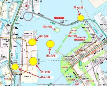 Exhibit C: 2007 map with daiba locations. Source: http://www5b.biglobe.ne.jp/~a-uchi/haibutu/index4v.html