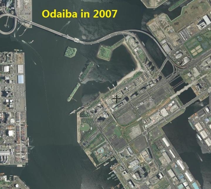 Odaiba history map 2007