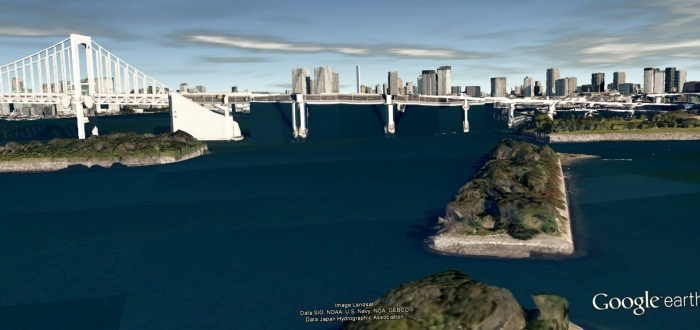 Odaiba view google Earth