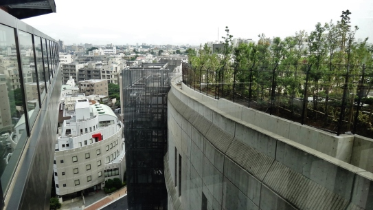 Bridge between Meguro Sky Garden and Cross Air Tower