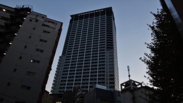 Cross Air Tower dusk Ohashi Meguro Tokyo