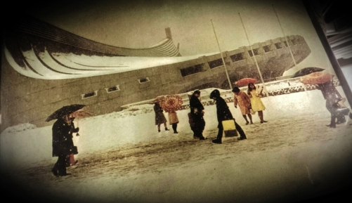 Yoyogi National Gymnasium snow kenzo tange