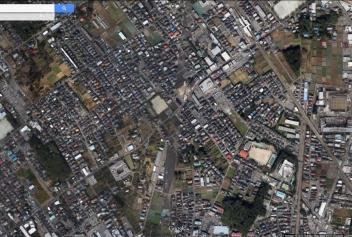 Road clearing Kokubunji aerial Tokyo