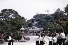 At the foot of the Great Buddha: Kamakura Daibutsu,1960s
