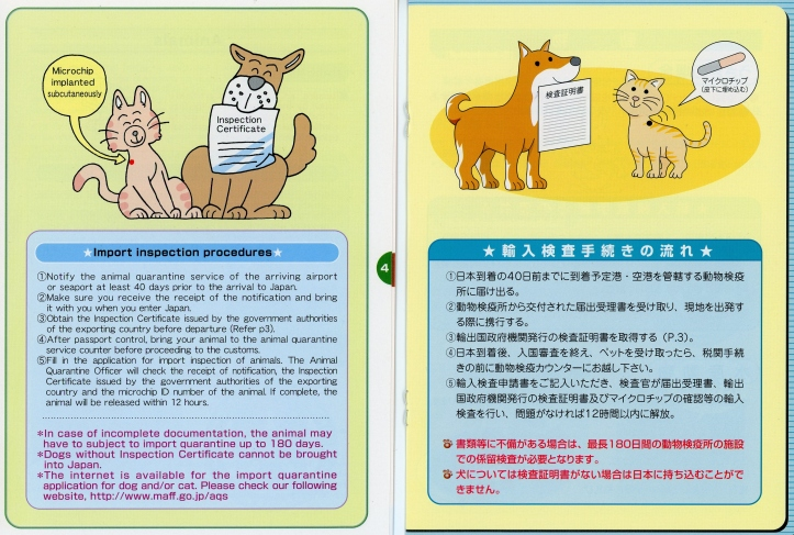Japan Animal Quarantine guide Import inspection procedures