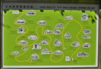 Japan Open air architecture museum Kawasaki map