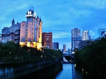 Hotel Emperor Meguro River dawn