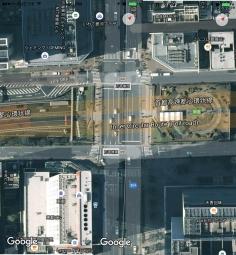 Ginza Tsukiji river bridge aerial Tokyo