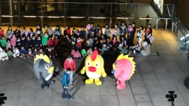 Japanese mascots furry fuzzy TV news