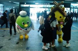 Japanese mascots furry fuzzy