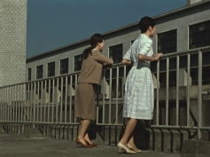 "Women taking a work-break in Ozu's film ""Late Autumn"" (1960)"