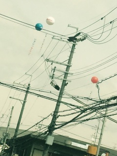 modern advertising balloons Japan