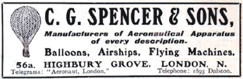 Spencer and Sons Balloons-CGSpencer-1909