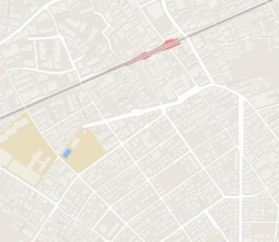 grey areas blank Tokyo hidden river map