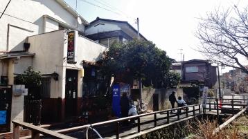 Senzoku Nagare stream canal cafe