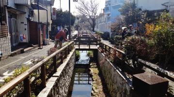 Senzoku Nagare stream Ota-ku Tokyo