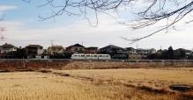 The Yukarigaoka Line train in the town of Sakura, Chiba, Japan.