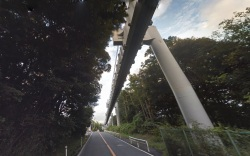 Shonan monorail forest section