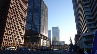 Tokyo Station near Hakone Ekiden start