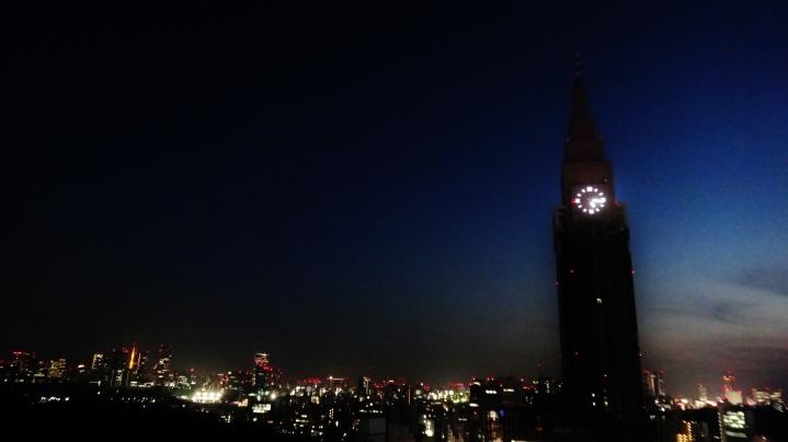 ntt-docomo-yoyogi-building-dusk
