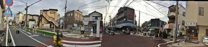 Nanatsuji seven-way intersection annotated