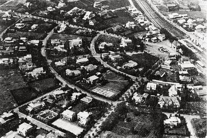 Denenchofu aerial photo