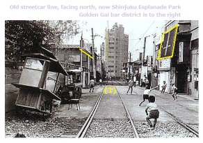 8.3 shinjuku-old-streetcar-park-path-golden-gai