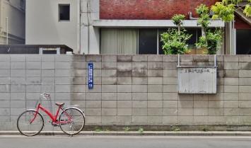 red bike bikes at rest