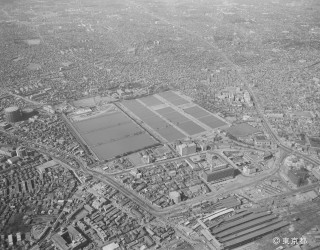 Shinjuku water treatment aerial photo 1962