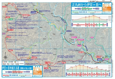 Seibu Line hiking map