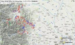 Tokyo Hiking Seibu Line Hiking Maps topographic