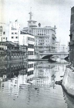 1933 Ginza canal Sukiyabashi Asahi Shimbun Yurakucho