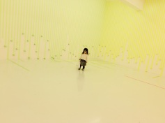 3331 Arts Chiyoda installation yellow tape 2