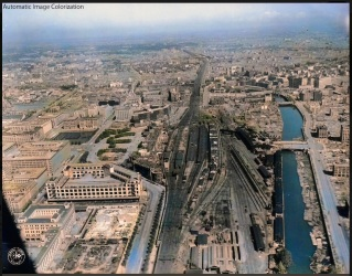 tokyo station canals 1945 old Edo outer moat