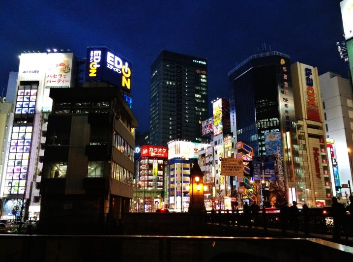 Akihabara lights from Manseibashi Tokyo