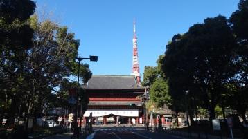Daimon Gate Tokyo Tower snow